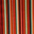 Badestoff glatt glänzend in rot seegrün gestreift