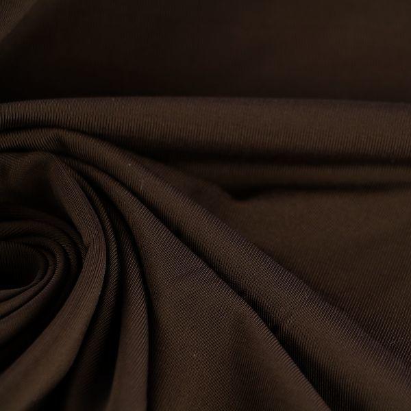 Microfaser Jersey glatt glänzend in dunkelbraun