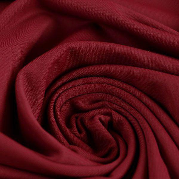 Microfaser Jersey glatt matt in dunkelrot
