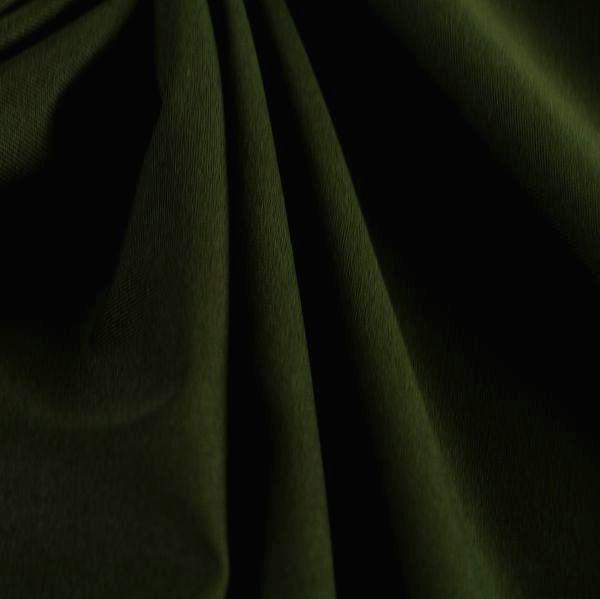 Microfaser Jersey glatt glänzend in dunkeloliv