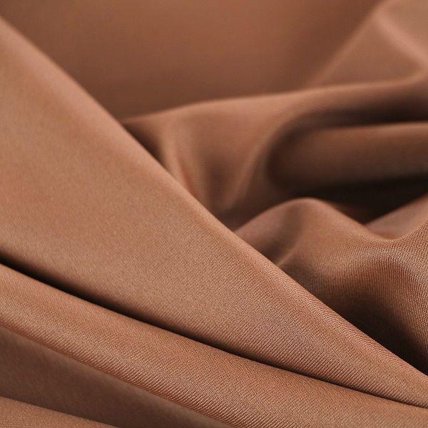 Microfaser Jersey glatt matt in hellem nougatbraun