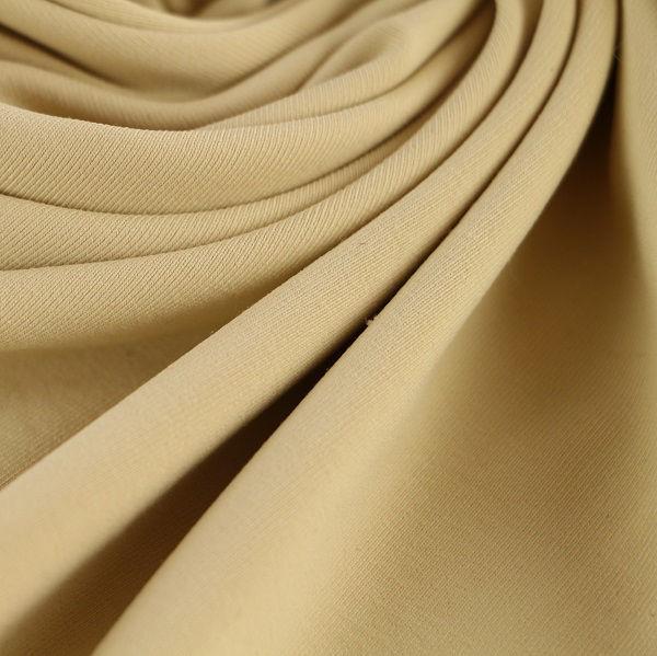 Microfaser Jersey glatt matt in sand