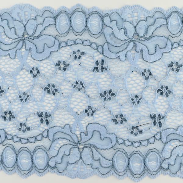 Wirkspitze Band breit elastisch in hellblau dunkelblau