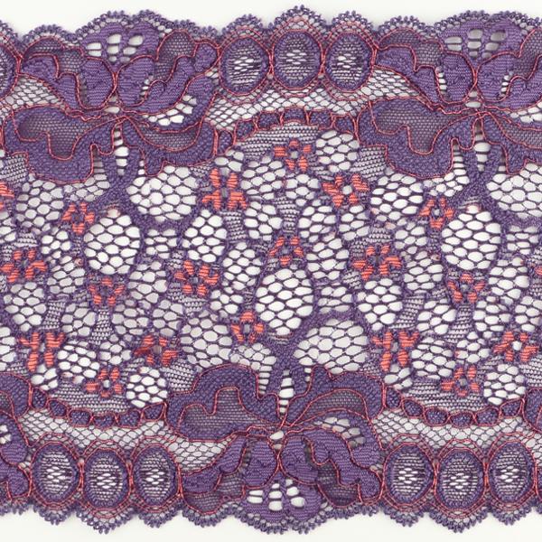 Wirkspitze Band breit elastisch in violett koralle