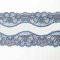 Spitzenband elastisch in taubenblau kupfer