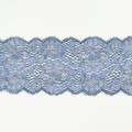 Spitzenband elastisch in blaugrau