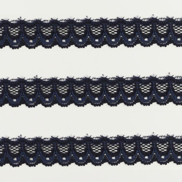 Spitzenband schmal elastisch in marine