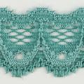 Spitzenband schmal elastisch in seegrün