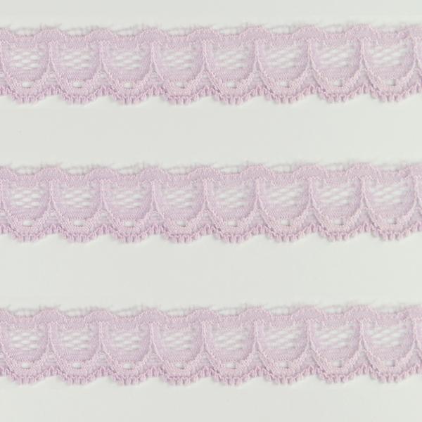 Spitzenband schmal elastisch in flieder