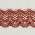 Spitzenband schmal elastisch in altrosa