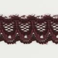 Spitzenband schmal elastisch in burgunder