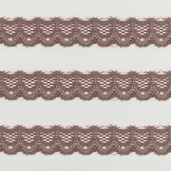 Spitzenband schmal elastisch in mauve