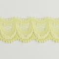 Spitzenband schmal elastisch in hellgelb