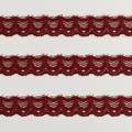 Spitzenband schmal elastisch in dunkelrot