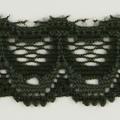 Spitzenband schmal elastisch in dunkeloliv