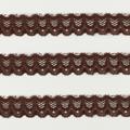 Spitzenband schmal elastisch in dunkelbraun