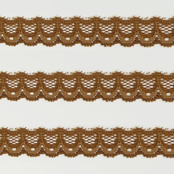 Spitzenband schmal elastisch in karamell