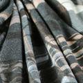 Viskose Jersey matt fein in schwarz grau braun Rauten floral