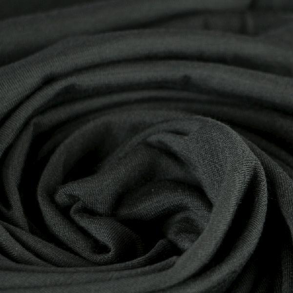 Baumwoll Jersey matt sehr fein in schwarz
