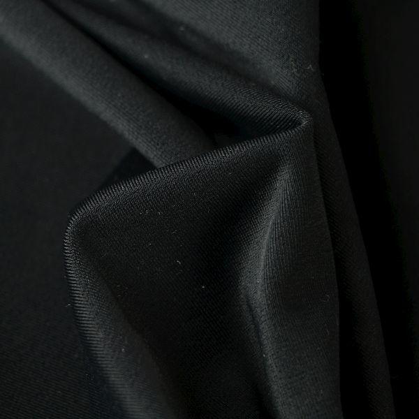 Microfaser Jersey sehr fein glänzend in schwarz