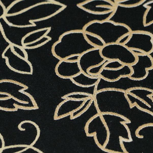 Baumwoll Jersey matt fein in schwarz natur