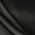 Sportstoff Mesh Jersey schwarz weiss Wabenstruktur