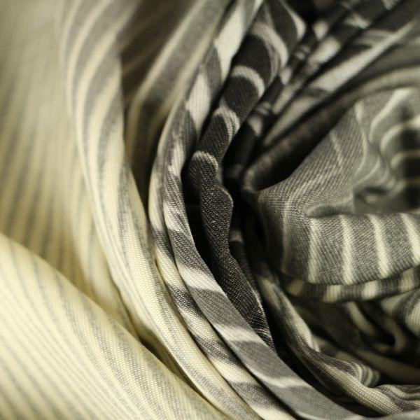 Microfaser Jersey glatt fein in creme hellgrau dunkelgrau