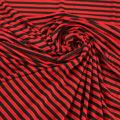 Microfaser Jersey sehr fein glänzend in schwarz rot