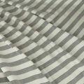 Baumwoll Jersey matt in weiss grau