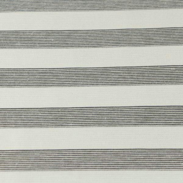 Baumwoll Jersey matt in weiss grau gestreift