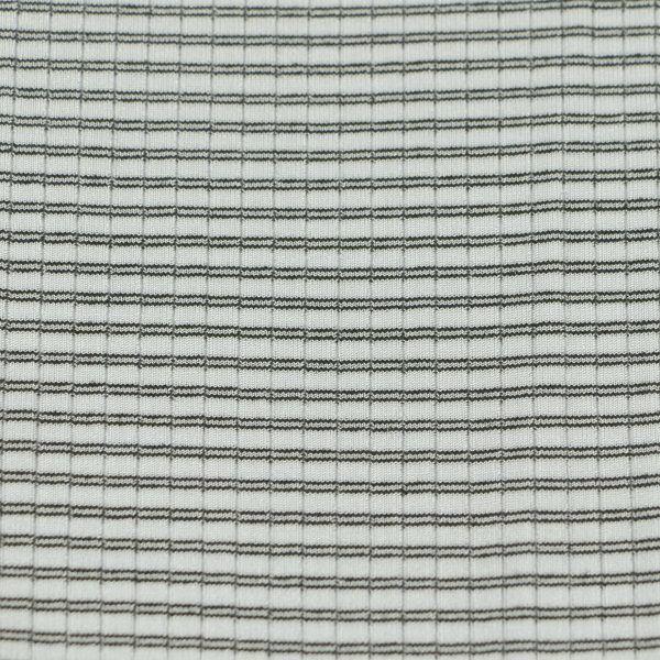 Microfaser Jersey fein glänzend in weiss schwarz