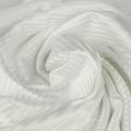 Microfaser Jersey sehr fein glänzend in weiss gestreift