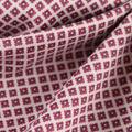 Baumwoll Jersey matt in weiss rot violett gemustert